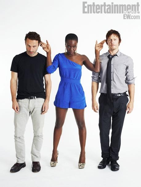 Andrew-Lincoln-Danai-Gurira-Norman-Reedus-the-walking-dead-le blog cinema de wildgunslinger